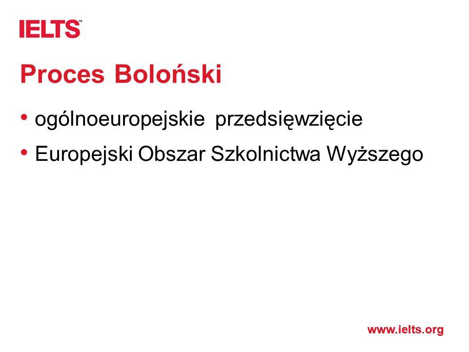 Proces Boloński ogólnoeuropejskie przedsięwzięcie Europejski Obszar Szkolnictwa Wyższego