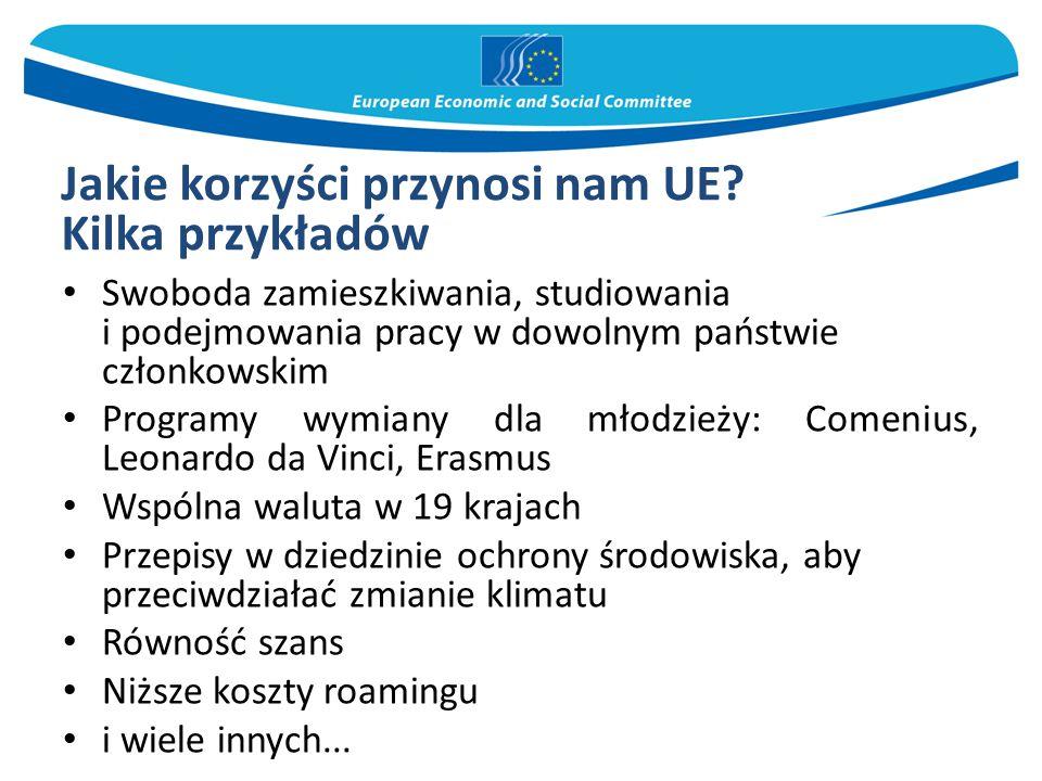 Jakie korzyści przynosi nam UE.