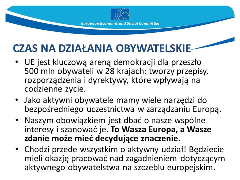 UE jest kluczową areną demokracji dla przeszło 500 mln obywateli w 28 krajach: tworzy przepisy, rozporządzenia i dyrektywy, które wpływają na codzienne życie.
