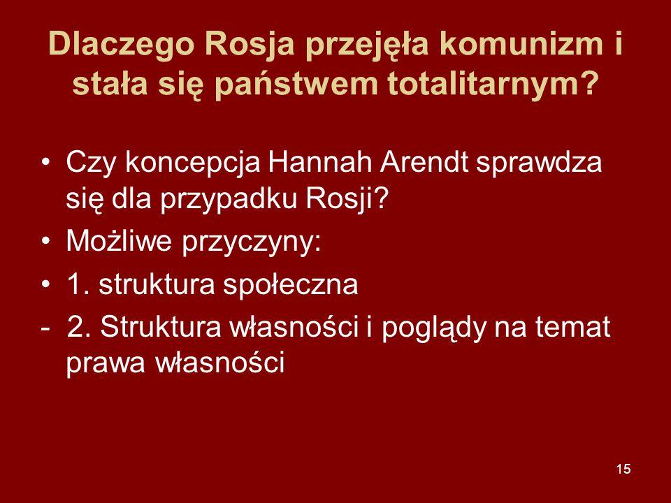 16 Totalitarna ideologia - komunizm 1.Nieuchronność likwidacji prawa własności prywatnej.