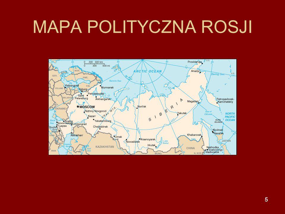 5 MAPA POLITYCZNA ROSJI