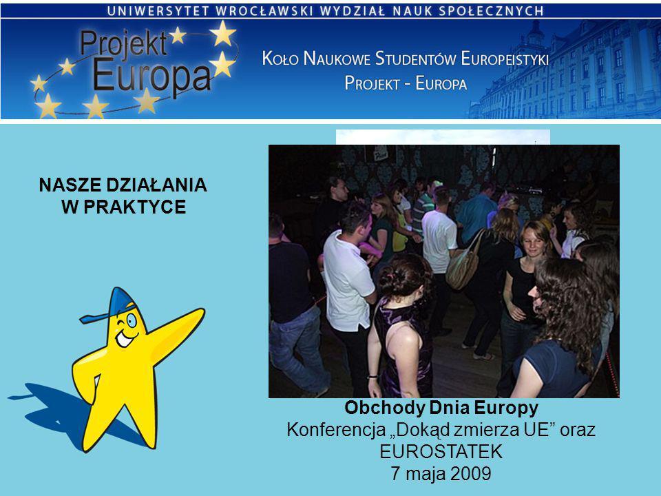 """NASZE DZIAŁANIA W PRAKTYCE Obchody Dnia Europy Konferencja """"Dokąd zmierza UE"""" oraz EUROSTATEK 7 maja 2009"""