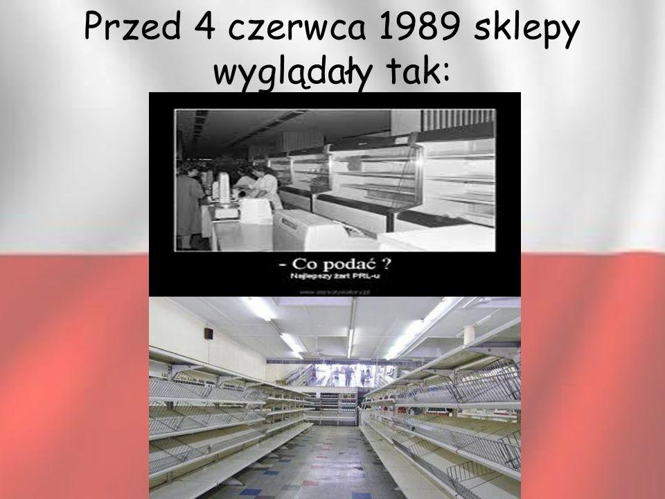Przed 4 czerwca 1989 sklepy wyglądały tak: