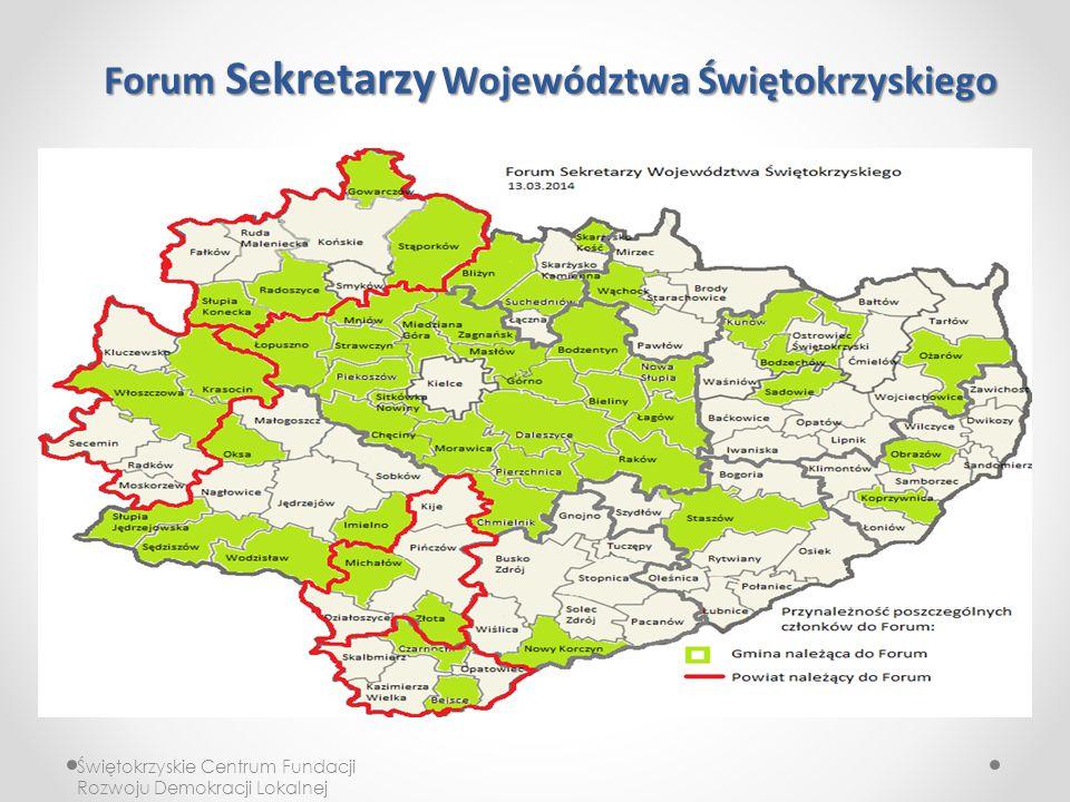 Forum Sekretarzy Województwa Świętokrzyskiego Świętokrzyskie Centrum Fundacji Rozwoju Demokracji Lokalnej