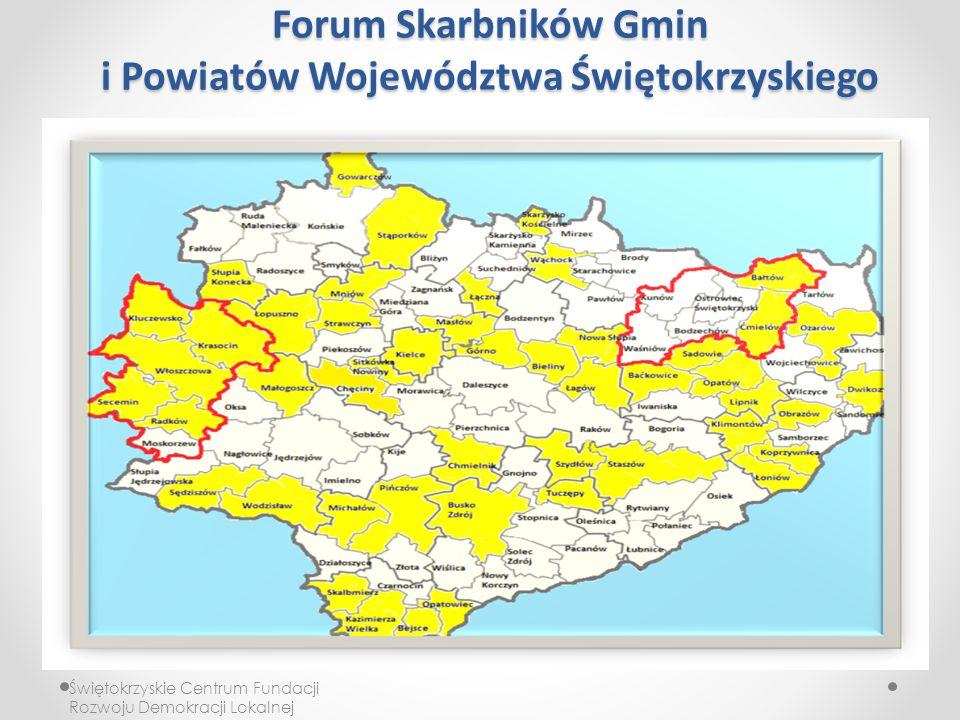 Forum Skarbników Gmin i Powiatów Województwa Świętokrzyskiego Świętokrzyskie Centrum Fundacji Rozwoju Demokracji Lokalnej