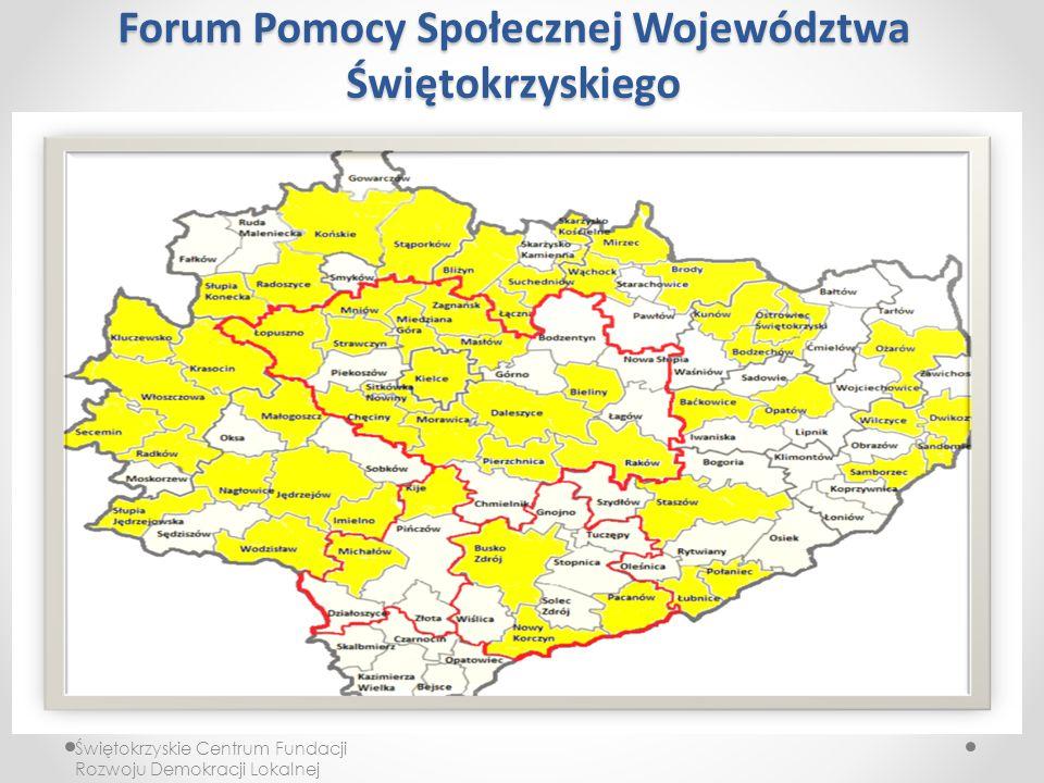Forum Pomocy Społecznej Województwa Świętokrzyskiego Świętokrzyskie Centrum Fundacji Rozwoju Demokracji Lokalnej