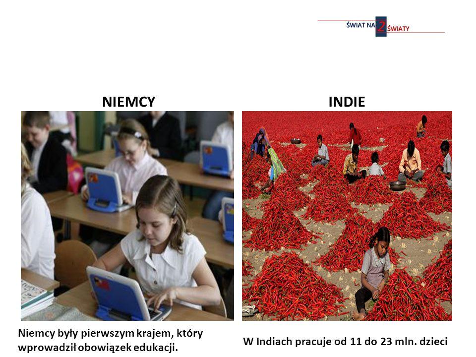 NIEMCY INDIE W Indiach pracuje od 11 do 23 mln.