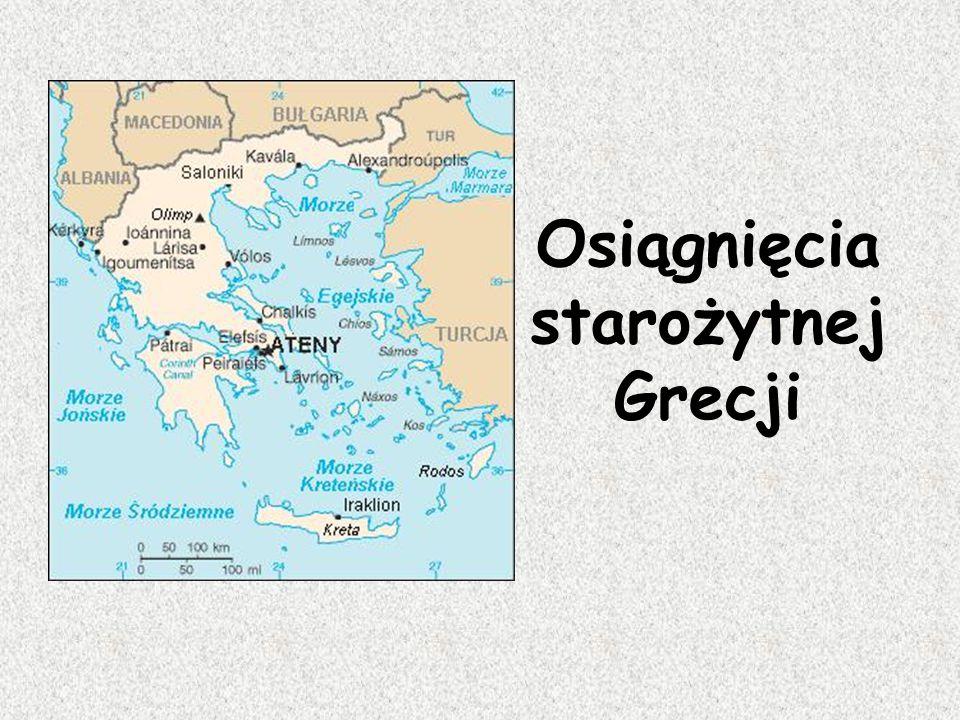 Osiągnięcia starożytnej Grecji