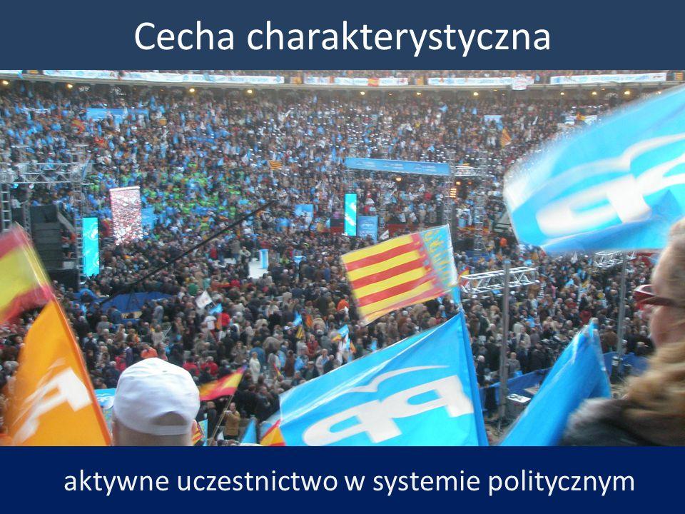 Cecha charakterystyczna aktywne uczestnictwo w systemie politycznym