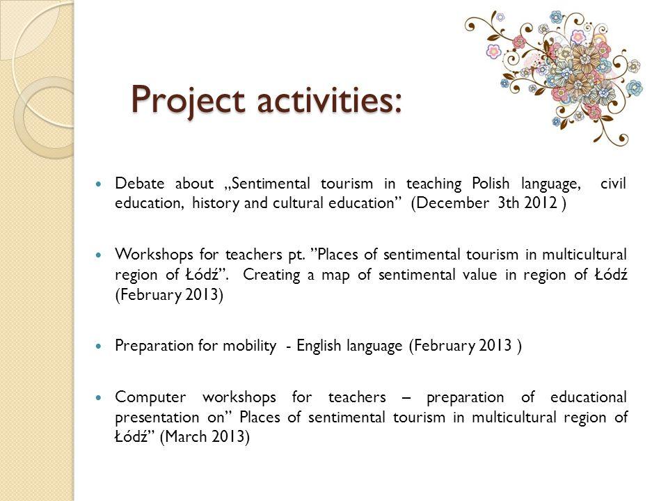 Project activities: Preparing for the publication of Łódź sentymentalna (October 2013 ).