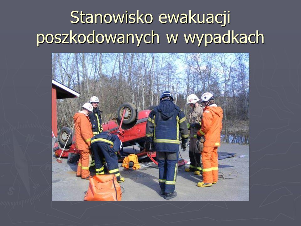 Stanowisko ewakuacji poszkodowanych w wypadkach