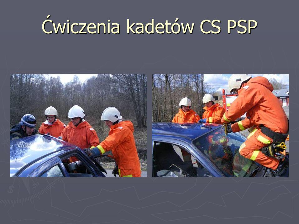 Ćwiczenia kadetów CS PSP