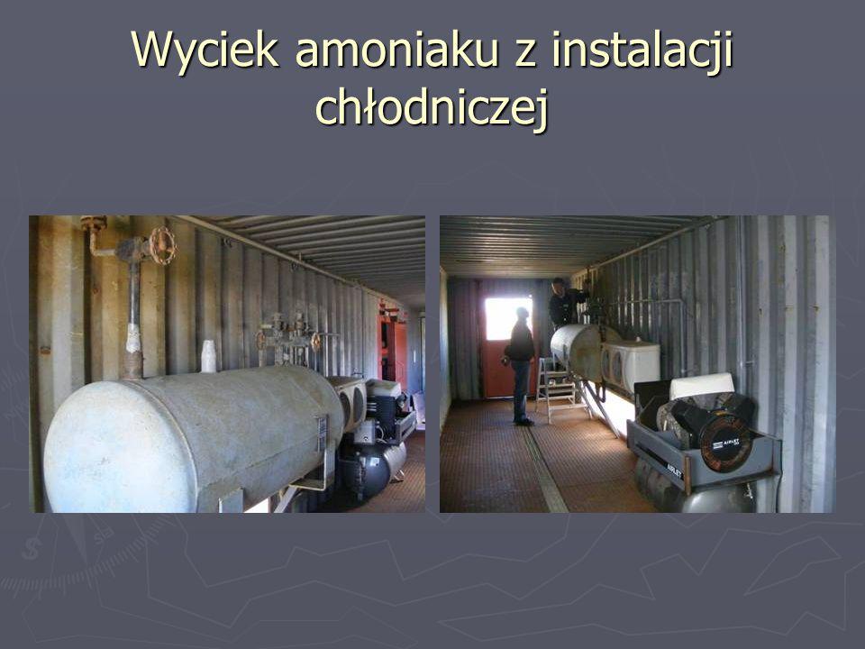 Wyciek amoniaku z instalacji chłodniczej