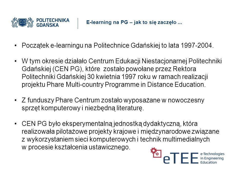 E-learning na PG – jak to się zaczęło...