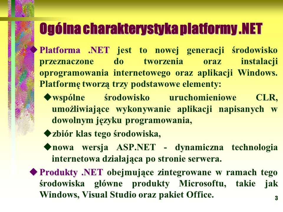 64 Struktura aplikacji.NET  Moduły  Moduły - są to pliki DLL lub EXE Windows PE (Portable Executable).