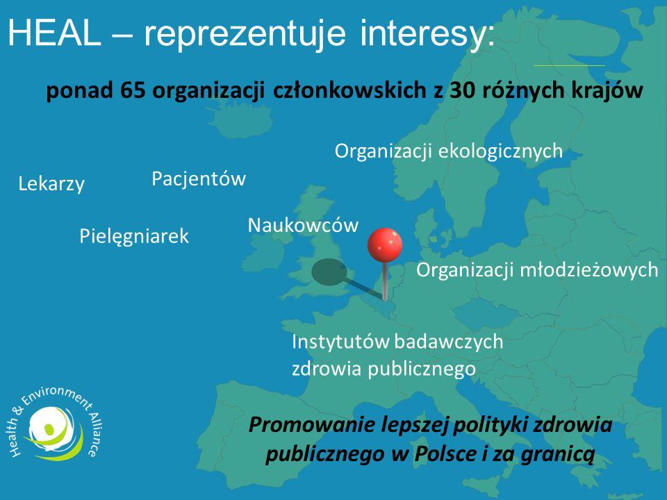 ponad 65 organizacji członkowskich z 30 różnych krajów Promowanie lepszej polityki zdrowia publicznego w Polsce i za granicą Lekarzy Pielęgniarek Pacj