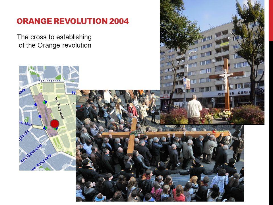 ORANGE REVOLUTION 2004 The cross to establishing of the Orange revolution