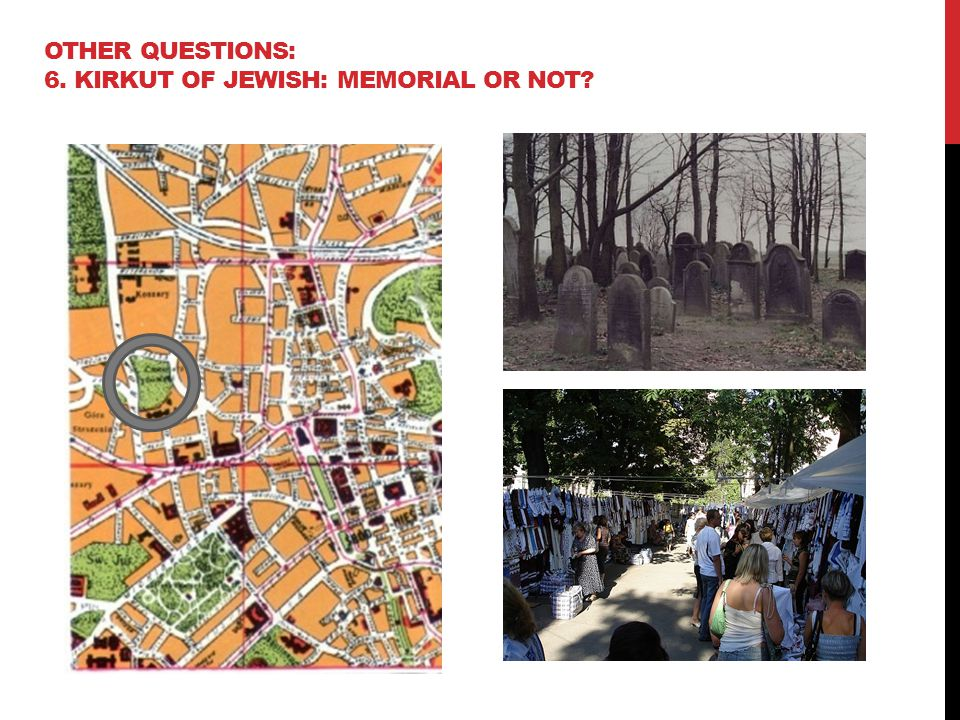 OTHER QUESTIONS: 6. KIRKUT OF JEWISH: MEMORIAL OR NOT