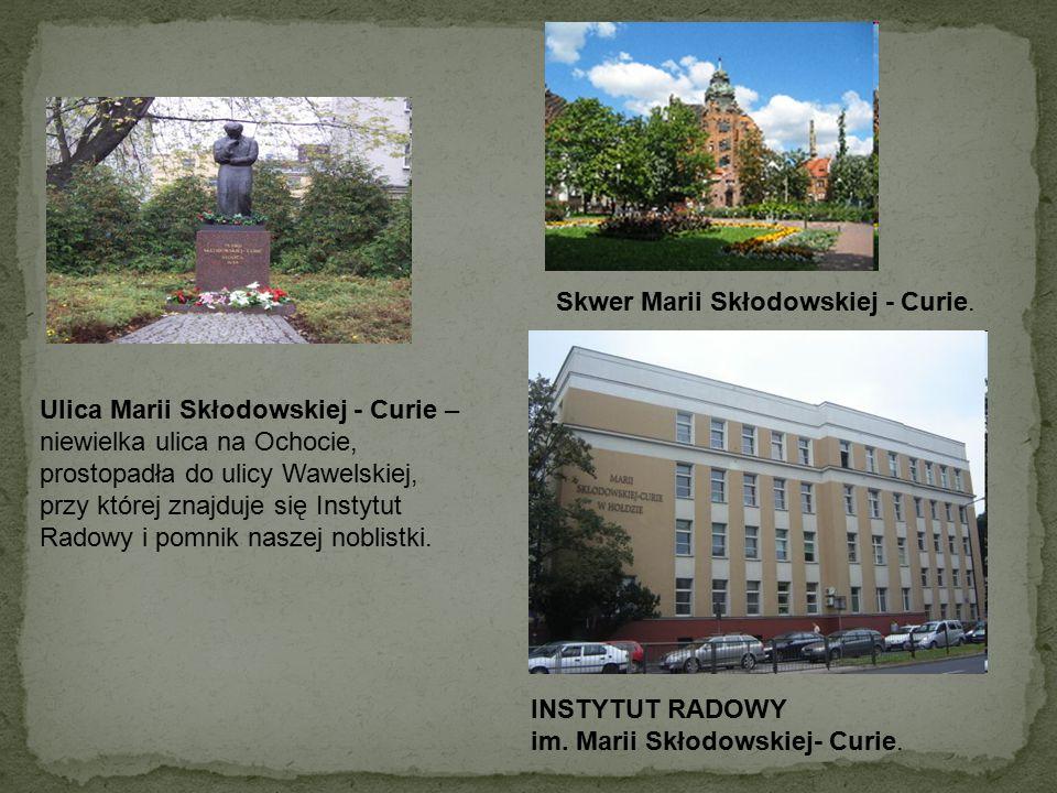 Muzeum Marii Skłodowskiej- Curie, ul.Freta 16 w Warszawie.