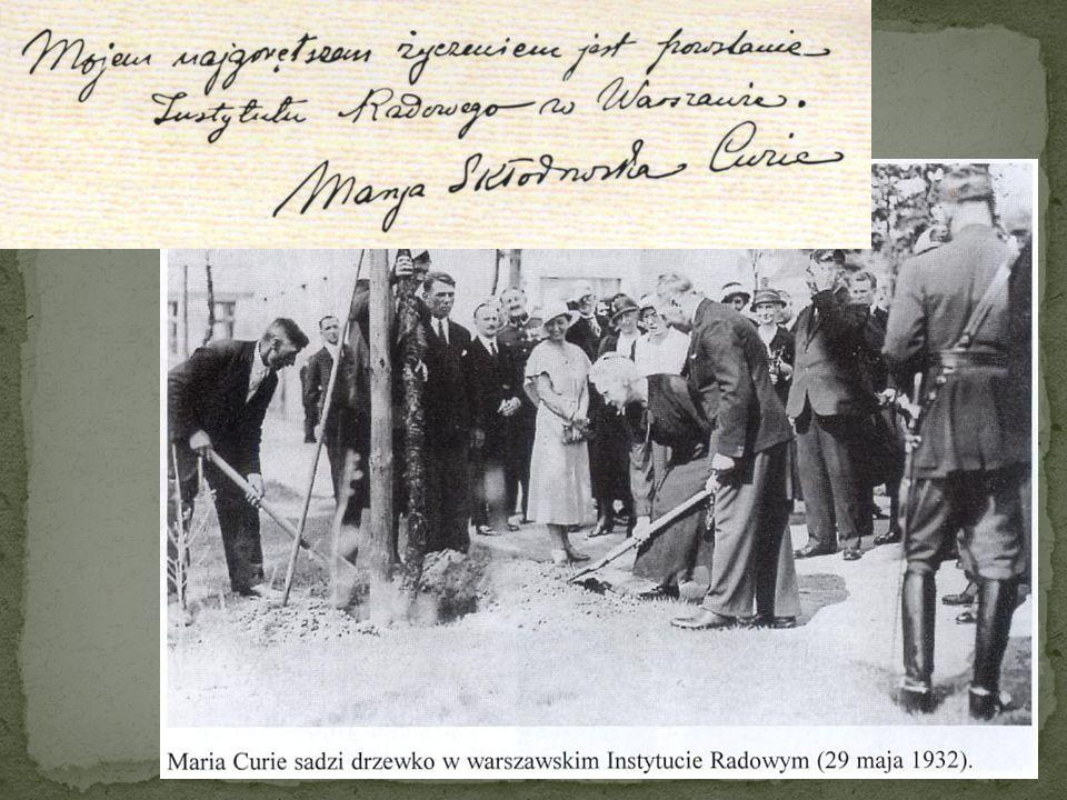 Maria Skłodowska- Curie ukazała drogę, którą podążyli oni wszyscy, współtworząc fizykę XX wieku
