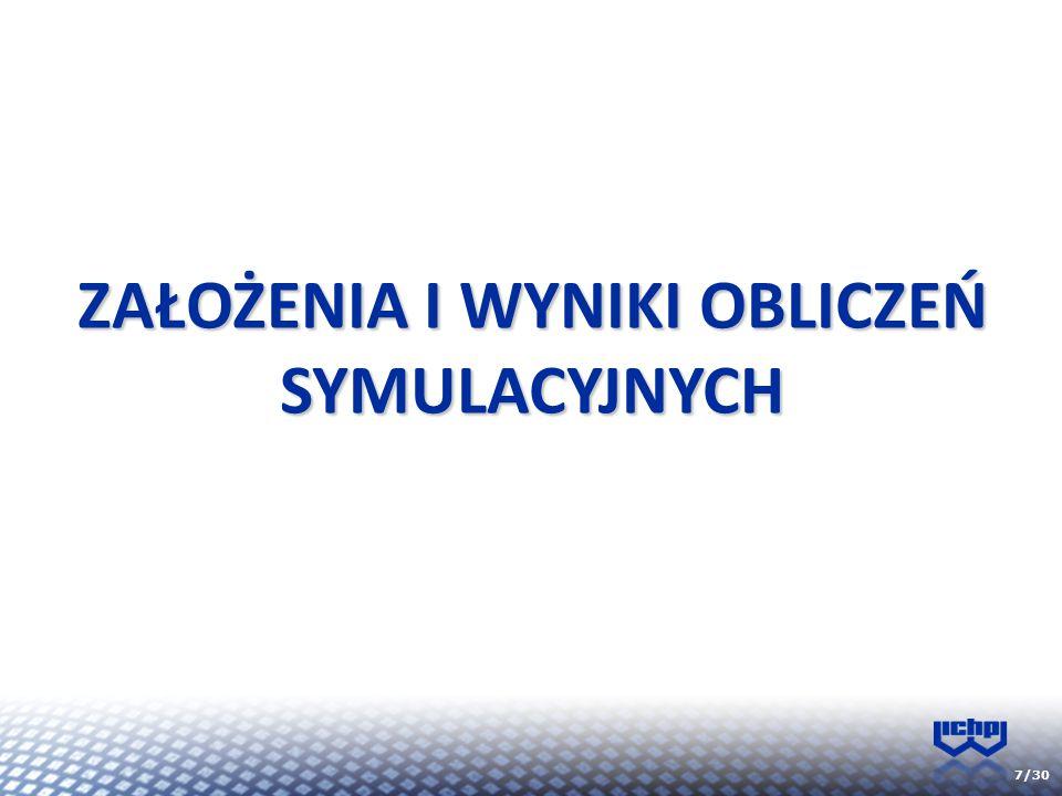 7/30 ZAŁOŻENIA I WYNIKI OBLICZEŃ SYMULACYJNYCH