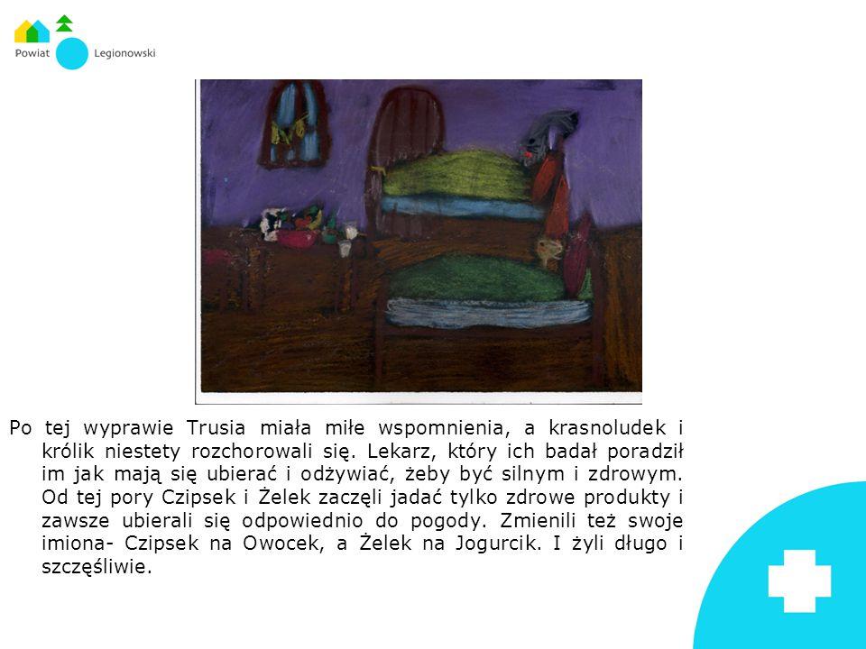 Po tej wyprawie Trusia miała miłe wspomnienia, a krasnoludek i królik niestety rozchorowali się.