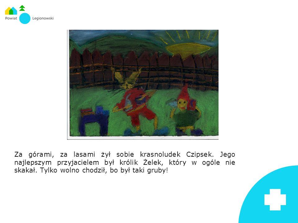 Za górami, za lasami żył sobie krasnoludek Czipsek. Jego najlepszym przyjacielem był królik Żelek, który w ogóle nie skakał. Tylko wolno chodził, bo b