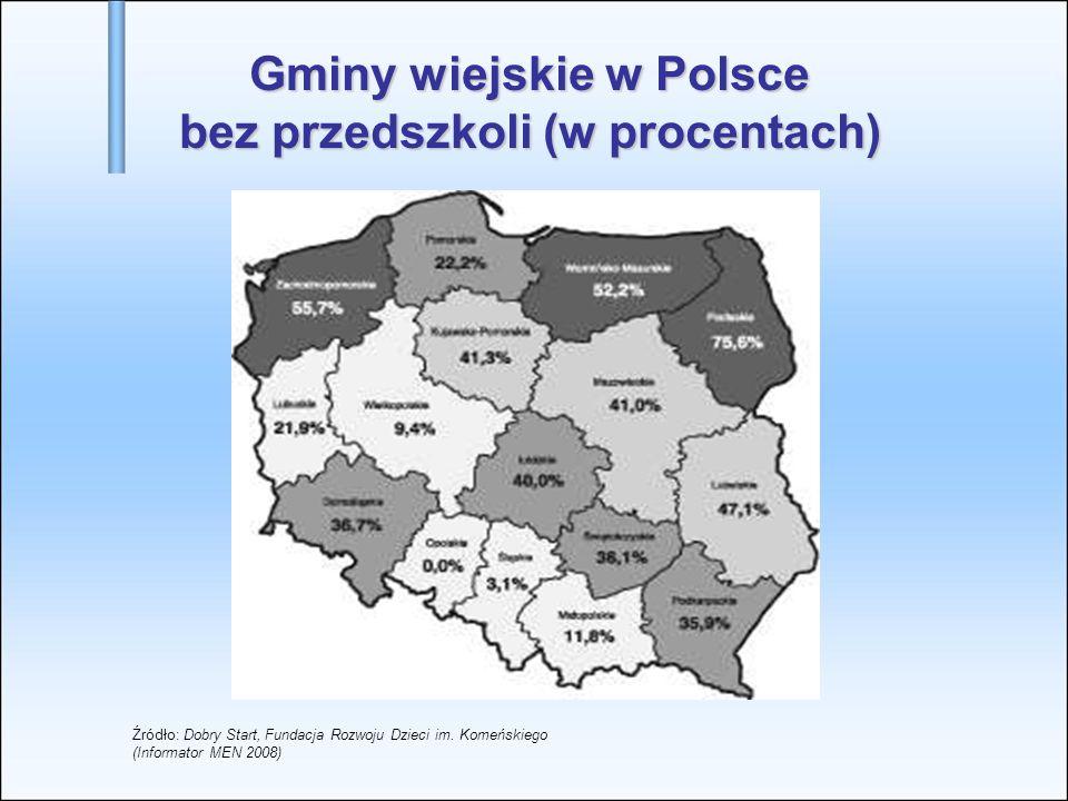 Wyniki przeprowadzonej w styczniu 2009 roku diagnozy dotyczącej upowszechniania wychowania przedszkolnego w województwie świętokrzyskim
