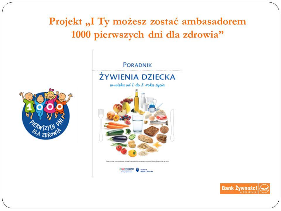 """Projekt """"I Ty możesz zostać ambasadorem 1000 pierwszych dni dla zdrowia"""