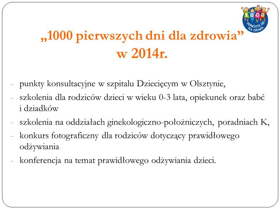 """""""1000 pierwszych dni dla zdrowia w 2014r."""