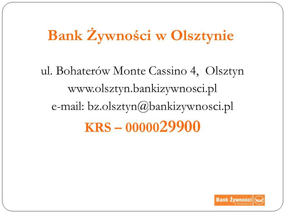 Bank Żywności w Olsztynie ul.