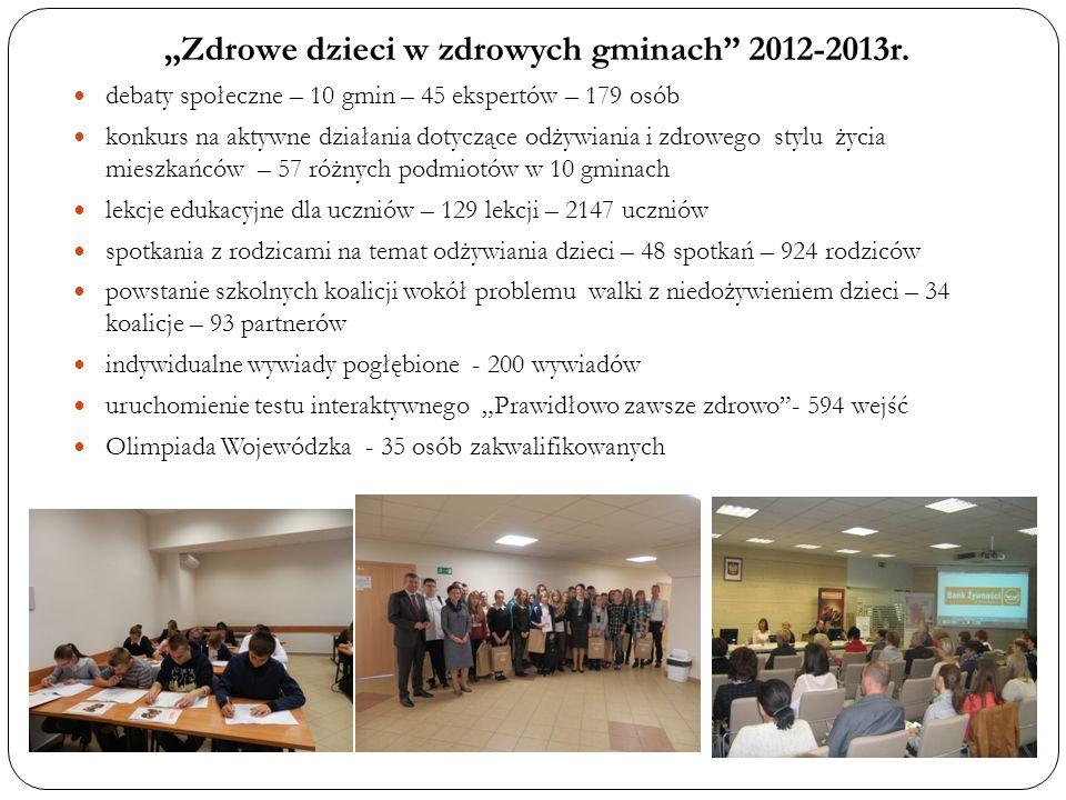 """""""Zdrowe dzieci w zdrowych gminach 2012-2013r."""