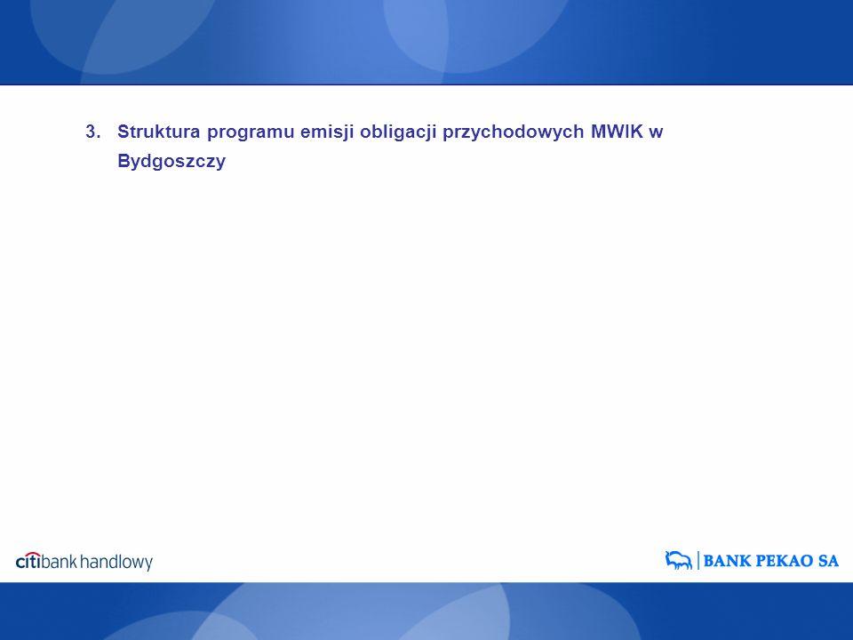 3.Struktura programu emisji obligacji przychodowych MWIK w Bydgoszczy