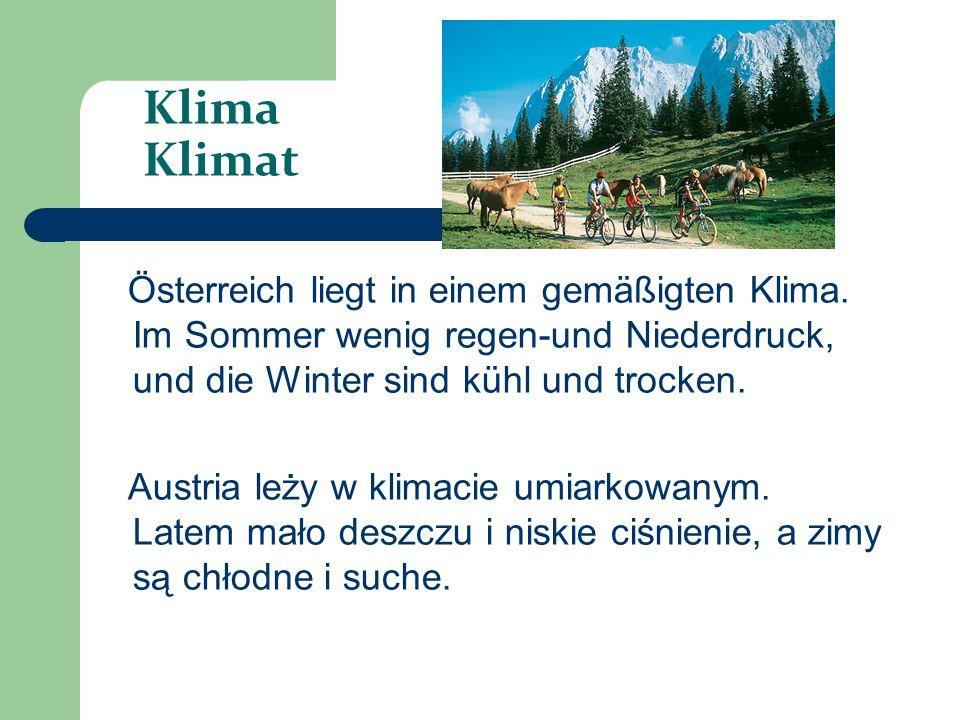 Stadt miasto Die größte Stadt in Österreich ist Wien, Graz und Linz.
