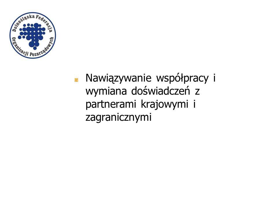 Nawiązywanie współpracy i wymiana doświadczeń z partnerami krajowymi i zagranicznymi
