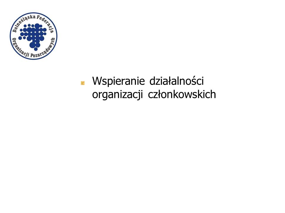 Wspieranie działalności organizacji członkowskich