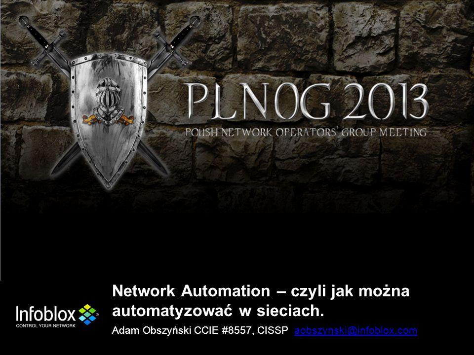 Network Automation – czyli jak można automatyzować w sieciach.