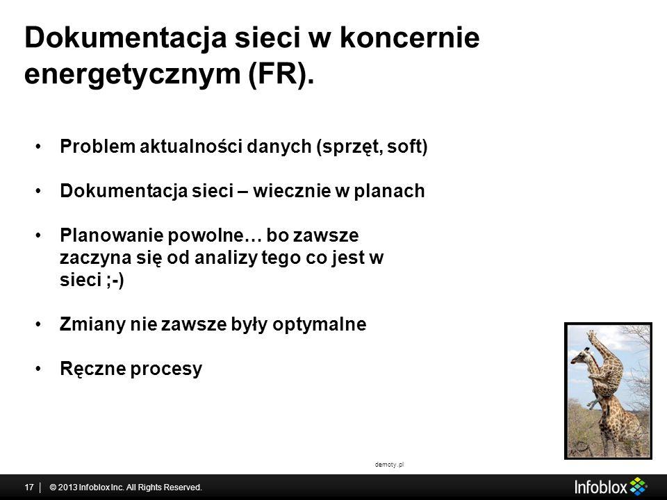 Dokumentacja sieci w koncernie energetycznym (FR).