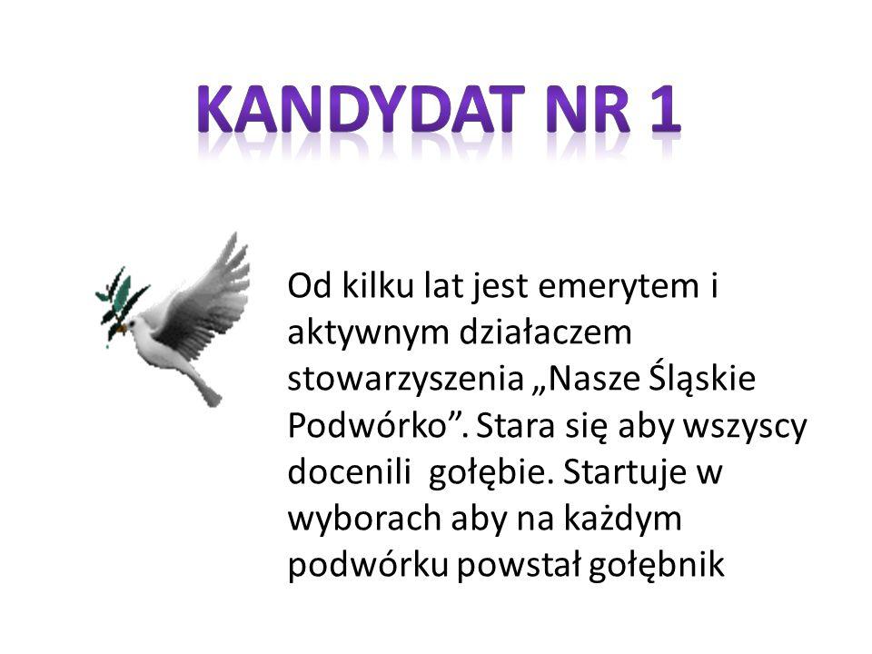 """Od kilku lat jest emerytem i aktywnym działaczem stowarzyszenia """"Nasze Śląskie Podwórko ."""