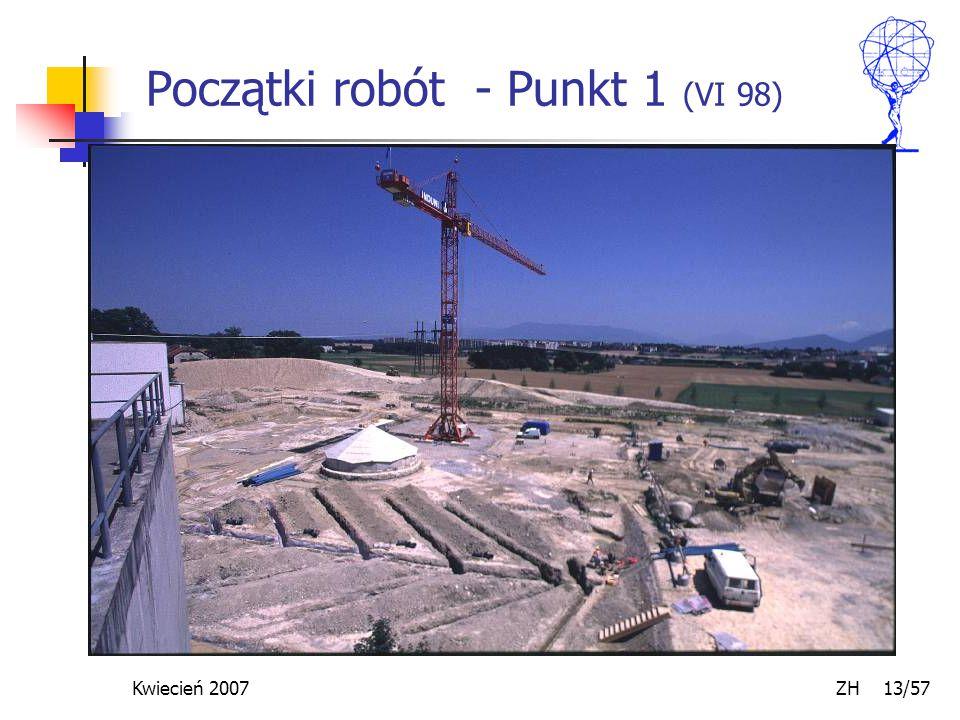 Kwiecień 2007 ZH 13/57 Początki robót - Punkt 1 (VI 98)