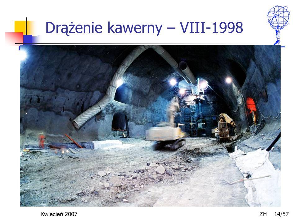 Kwiecień 2007 ZH 14/57 Drążenie kawerny – VIII-1998