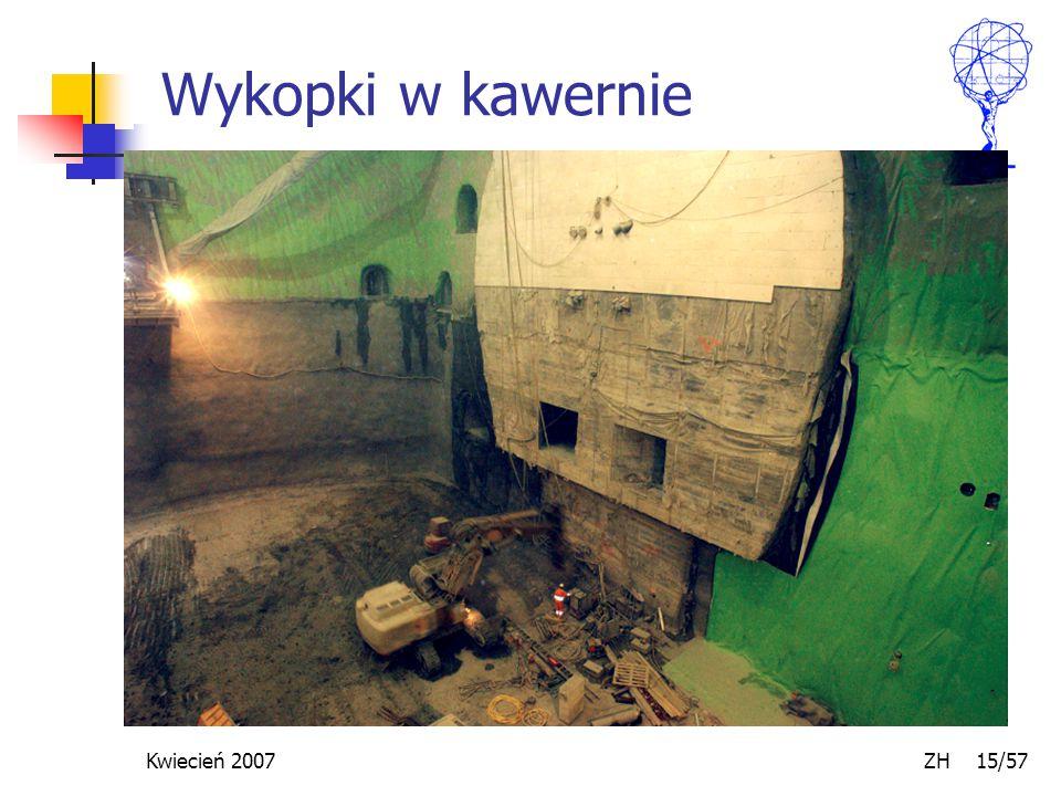 Kwiecień 2007 ZH 15/57 Wykopki w kawernie