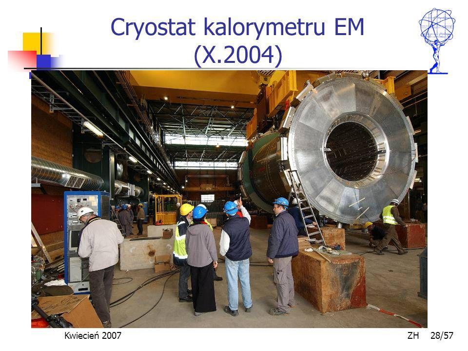 Kwiecień 2007 ZH 28/57 Cryostat kalorymetru EM (X.2004)