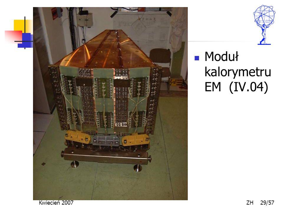 Kwiecień 2007 ZH 29/57 Moduł kalorymetru EM (IV.04)