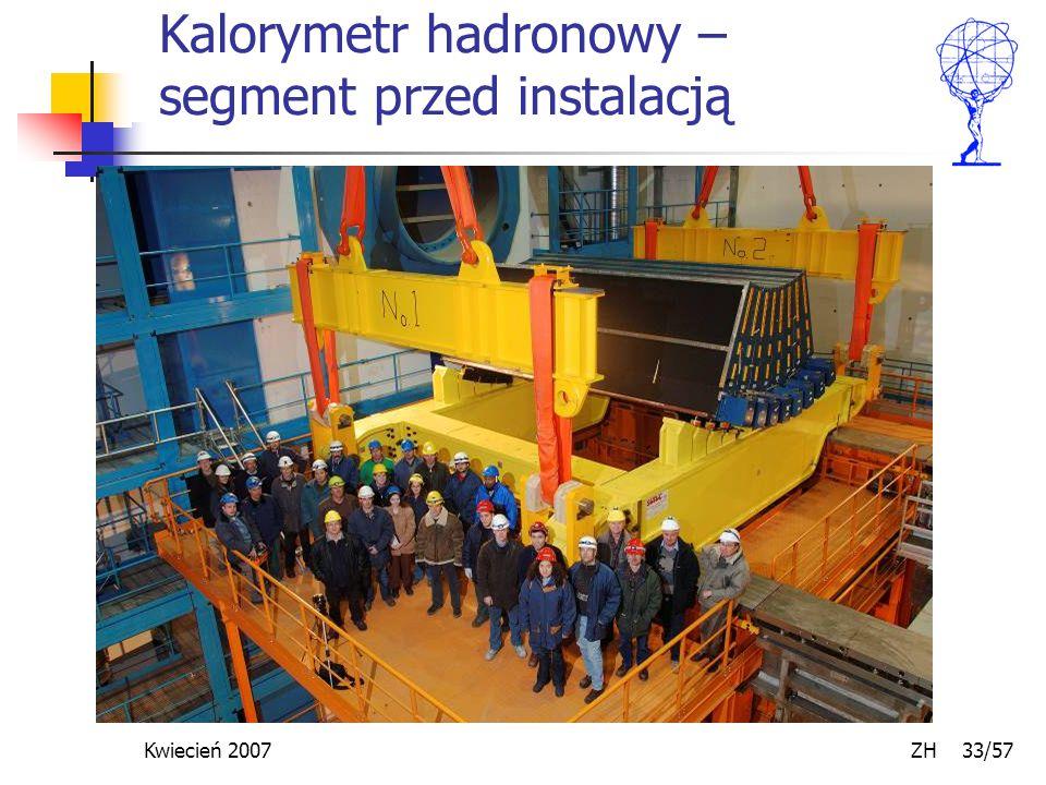 Kwiecień 2007 ZH 33/57 Kalorymetr hadronowy – segment przed instalacją