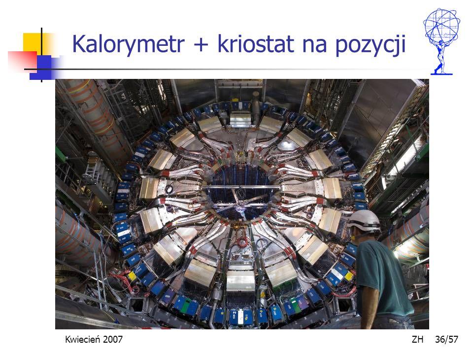 Kwiecień 2007 ZH 36/57 Kalorymetr + kriostat na pozycji