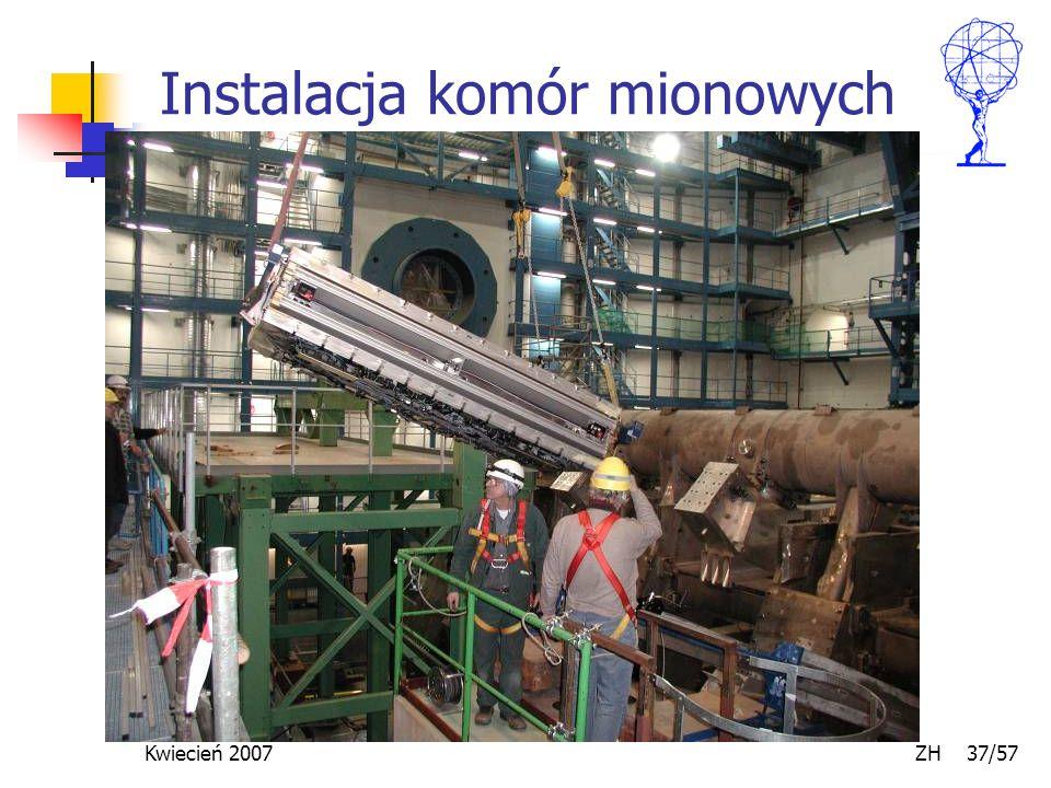 Kwiecień 2007 ZH 37/57 Instalacja komór mionowych