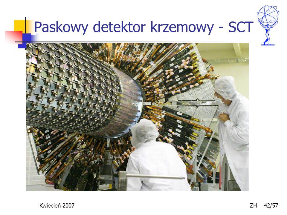 Kwiecień 2007 ZH 42/57 Paskowy detektor krzemowy - SCT
