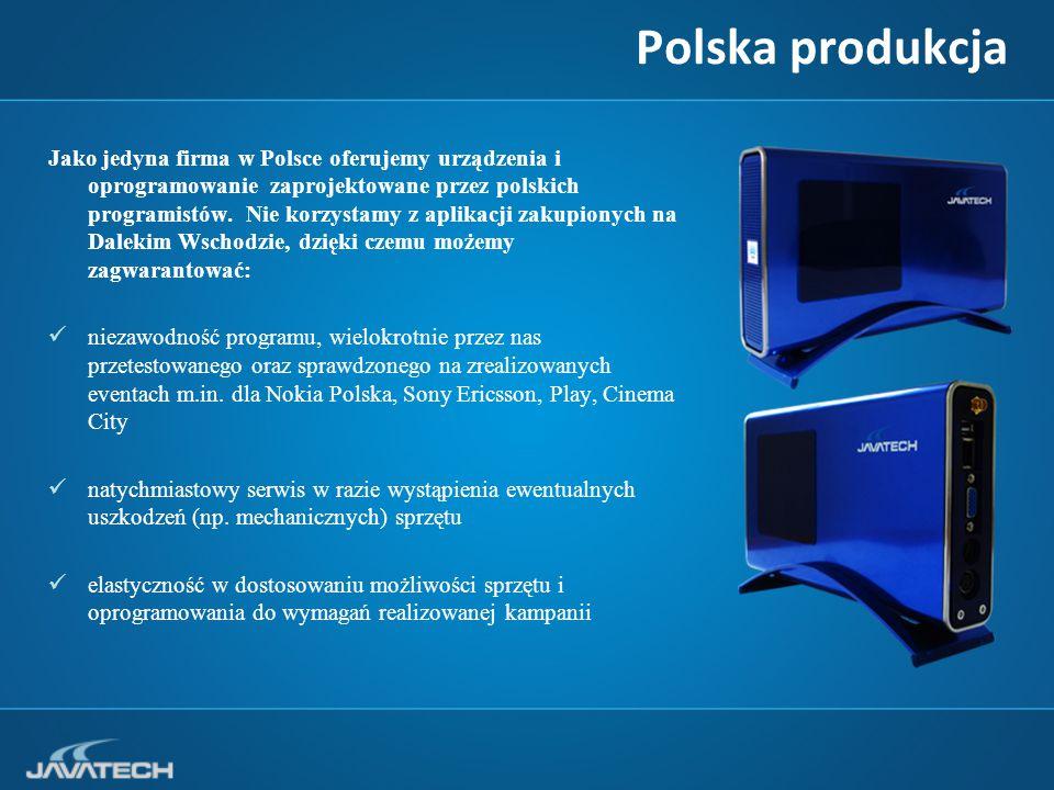 Polska produkcja Jako jedyna firma w Polsce oferujemy urządzenia i oprogramowanie zaprojektowane przez polskich programistów.