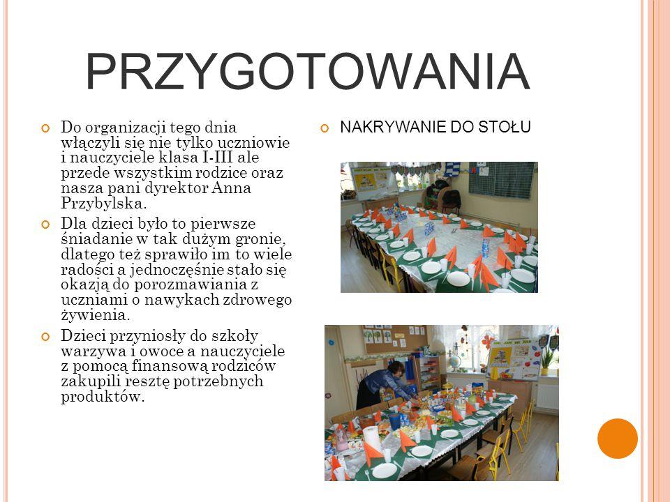 """8 LISTOPADA 2011 To dzień w którym nasza szkoła uczestniczyła w projekcie edukacyjnym pt:,,Śniadanie daje moc"""". Organizatorami tej akcji było Partners"""